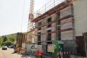 M. BAYER Baukoordination Eigentumswohnungen in Stuttgart-Wangen: Die Terrasse im 1. OG im Rohbau