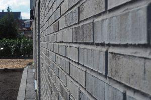 M. BAYER Baukoordination: Neubau Deizisau - Detailansicht Klinkerfassade