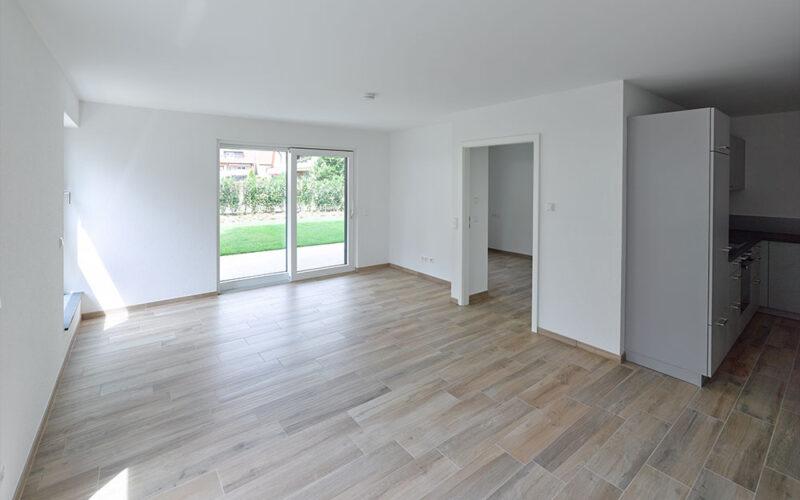 M. Bayer Baukoordination Neubau Deizisau Gartenstraße Wohnzimmer