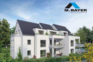 Visualisierung Mehrfamilienhaus Altbach