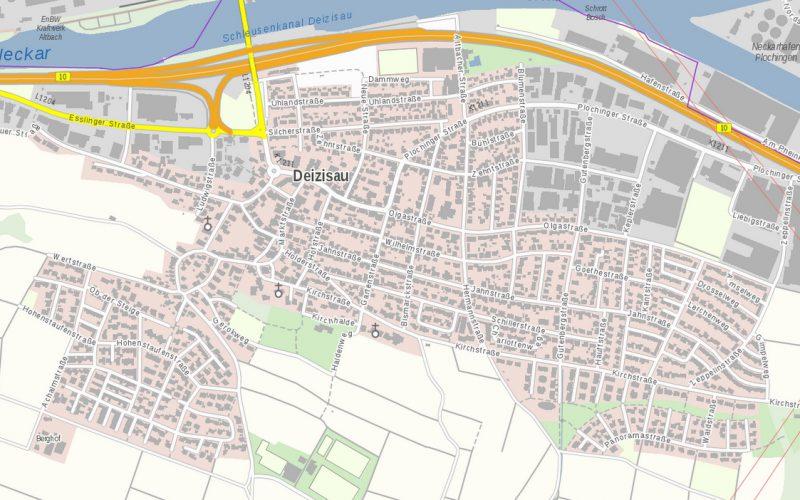 Plan Deizisau Neubauprojekt Ob der Steige M. Bayer Baukoordination