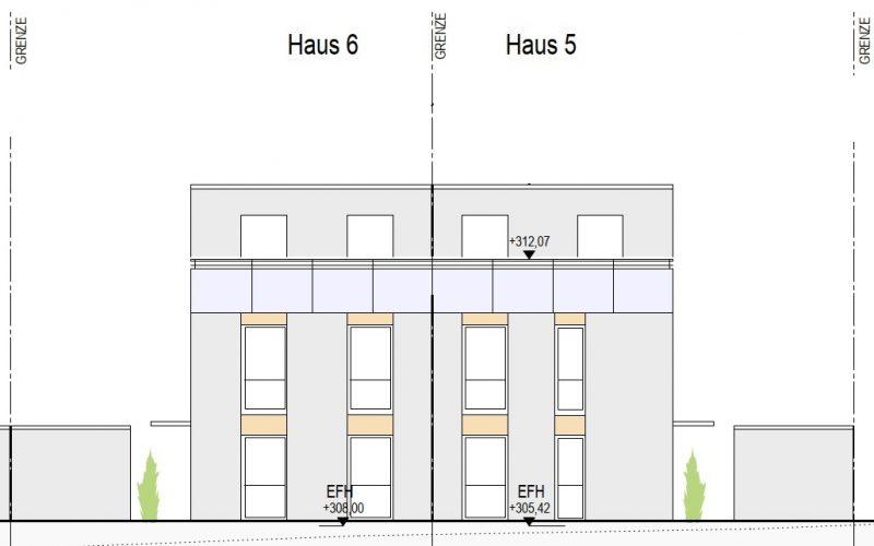 Ansicht Nord Haus 5+6, Neubauprojekt Deizisau Ob der Steige M. Bayer Baukoordination