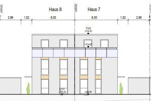 Ansicht Nord Haus 7+8, Neubauprojekt Deizisau Ob der Steige M. Bayer Baukoordination