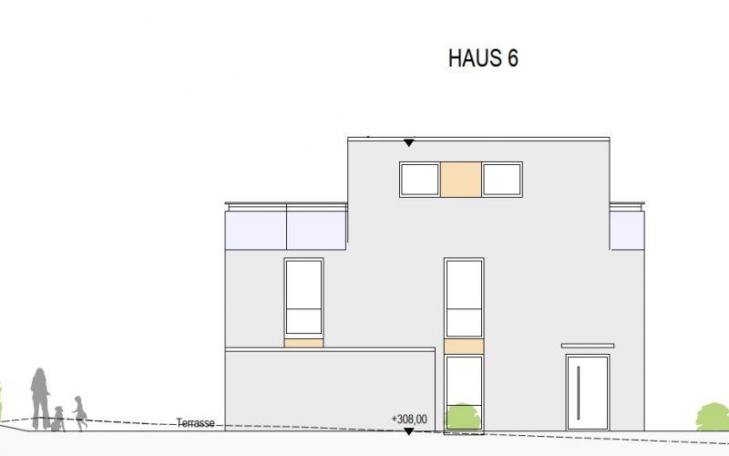 Ansicht Ost Haus 6, Neubauprojekt Deizisau Ob der Steige M. Bayer Baukoordination