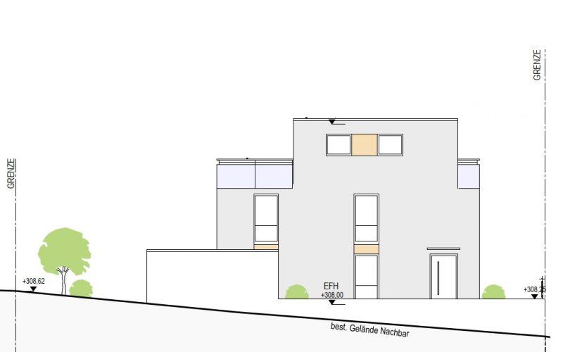 Ansicht Ost Haus 8, Neubauprojekt Deizisau Ob der Steige M. Bayer Baukoordination