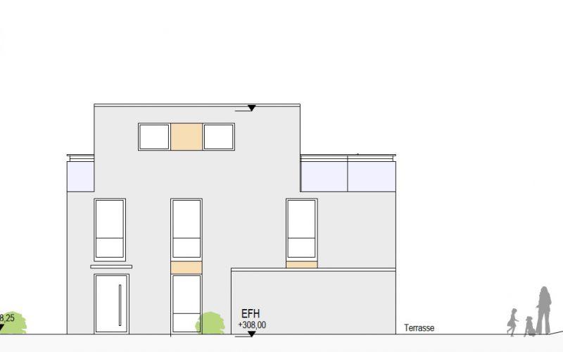 Ansicht West Haus 5, Neubauprojekt Deizisau Ob der Steige M. Bayer Baukoordination