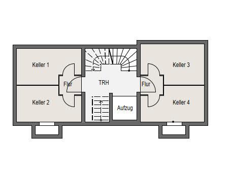 Neubauprojekt Deizisau Untergeschoss, Kellerräume Haus 19