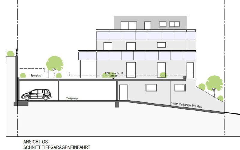Neubauprojekt Deizisau Ansicht Haus 19 Ost