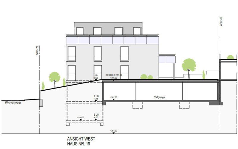 Neubauprojekt Deizisau Ansicht Haus 19 West