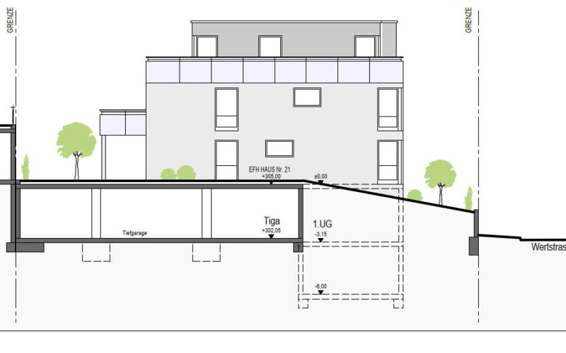 Neubauprojekt Deizisau Ansicht Haus 21 Ost