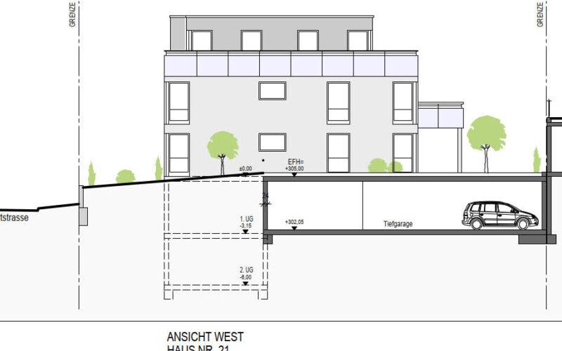 Neubauprojekt Deizisau Ansicht Haus 21 West
