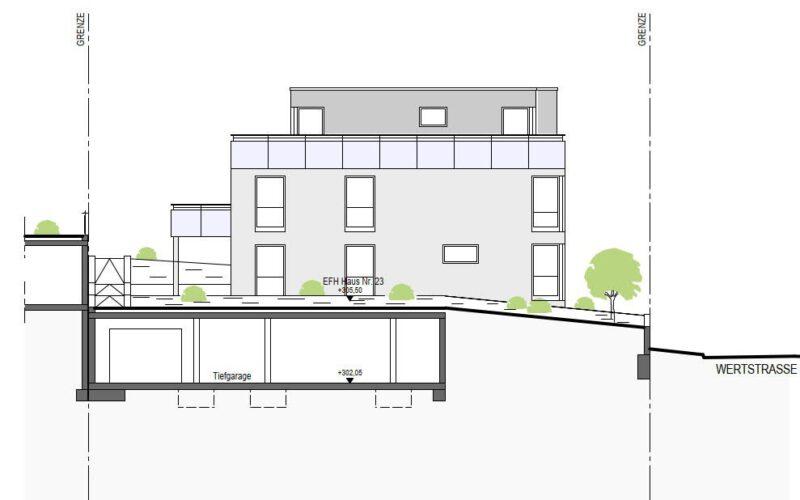 Neubauprojekt Deizisau Ansicht Haus 23 Ost