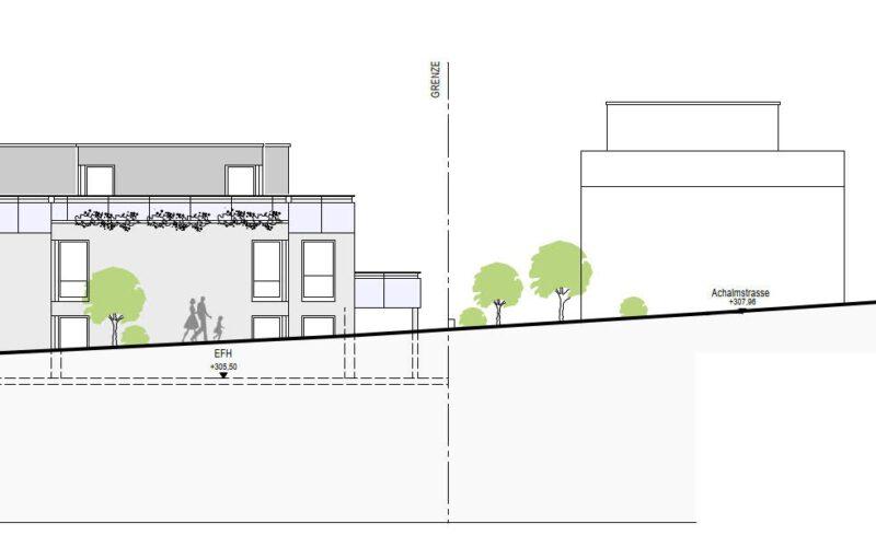 Neubauprojekt Deizisau Ansicht Haus 23 West