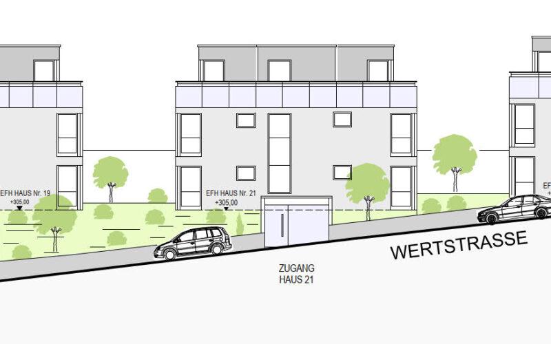 Neubauprojekt Deizisau Ansicht Wertstraße