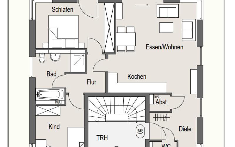 Neubauprojekt Deizisau Dachgeschoss Haus 21