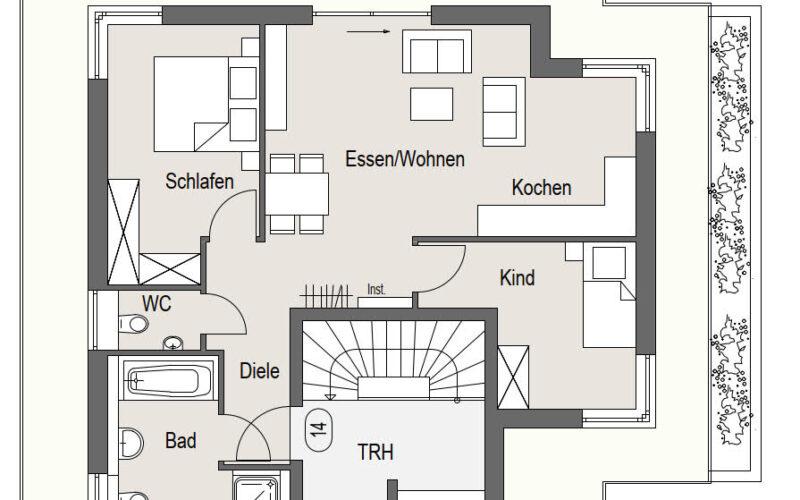 Neubauprojekt Deizisau Dachgeschoss Haus 23