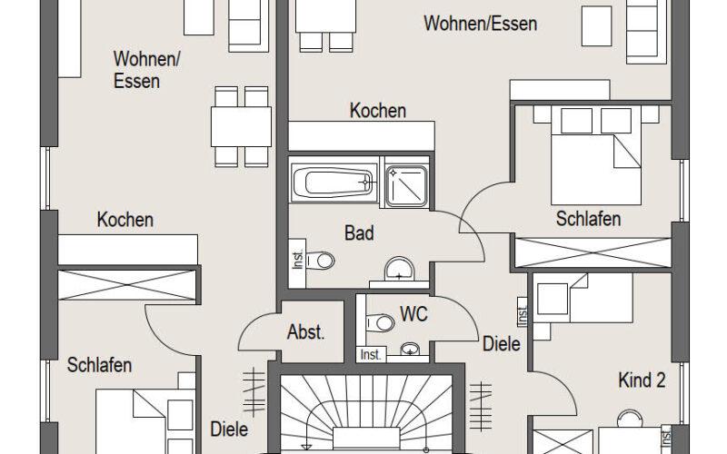 Neubauprojekt Deizisau Erdgeschoss Haus 19