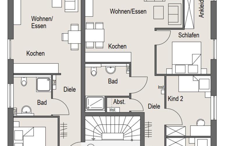 Neubauprojekt Deizisau Erdgeschoss Haus 21