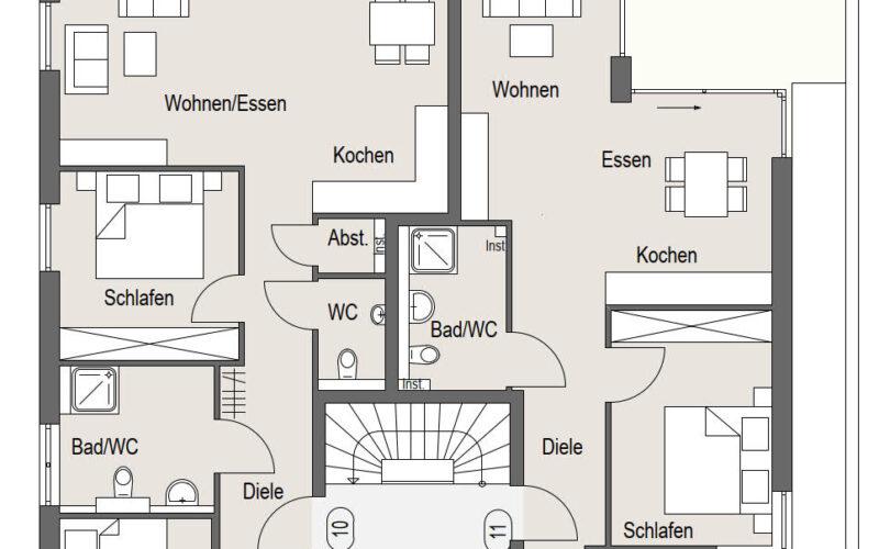 Neubauprojekt Deizisau Erdgeschoss Haus 23