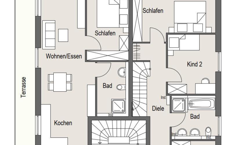 Neubauprojekt Deizisau Obergeschoss Haus 19