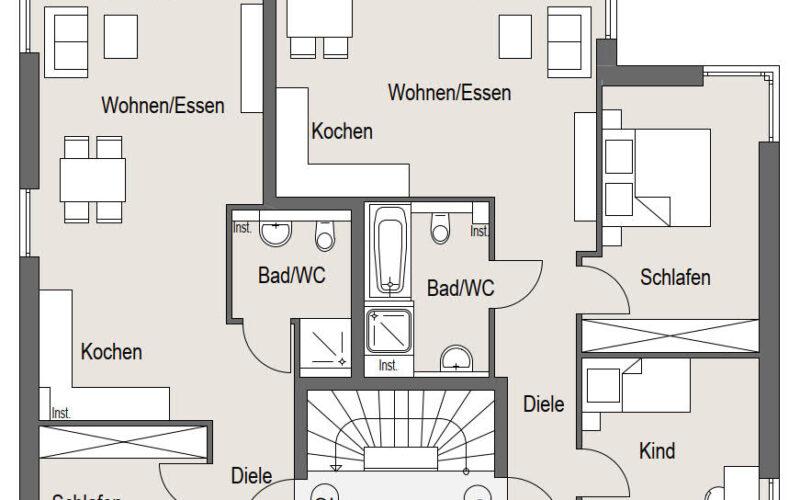 Neubauprojekt Deizisau Obergeschoss Haus 23