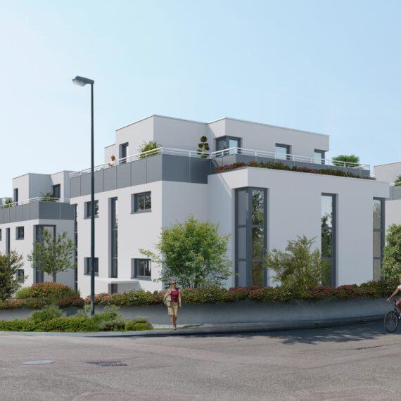 Visualisierung Mehrfamilienhaus Neubau Deizisau